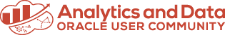 Analytics and Data Oracle User Community Logo